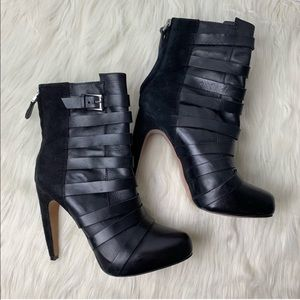 "Sam Edelman ""Kendrix"" Black Leather Ankle Booties"